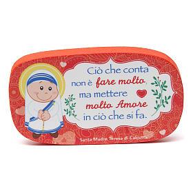 Magnete in legno Madre Teresa di Calcutta s1