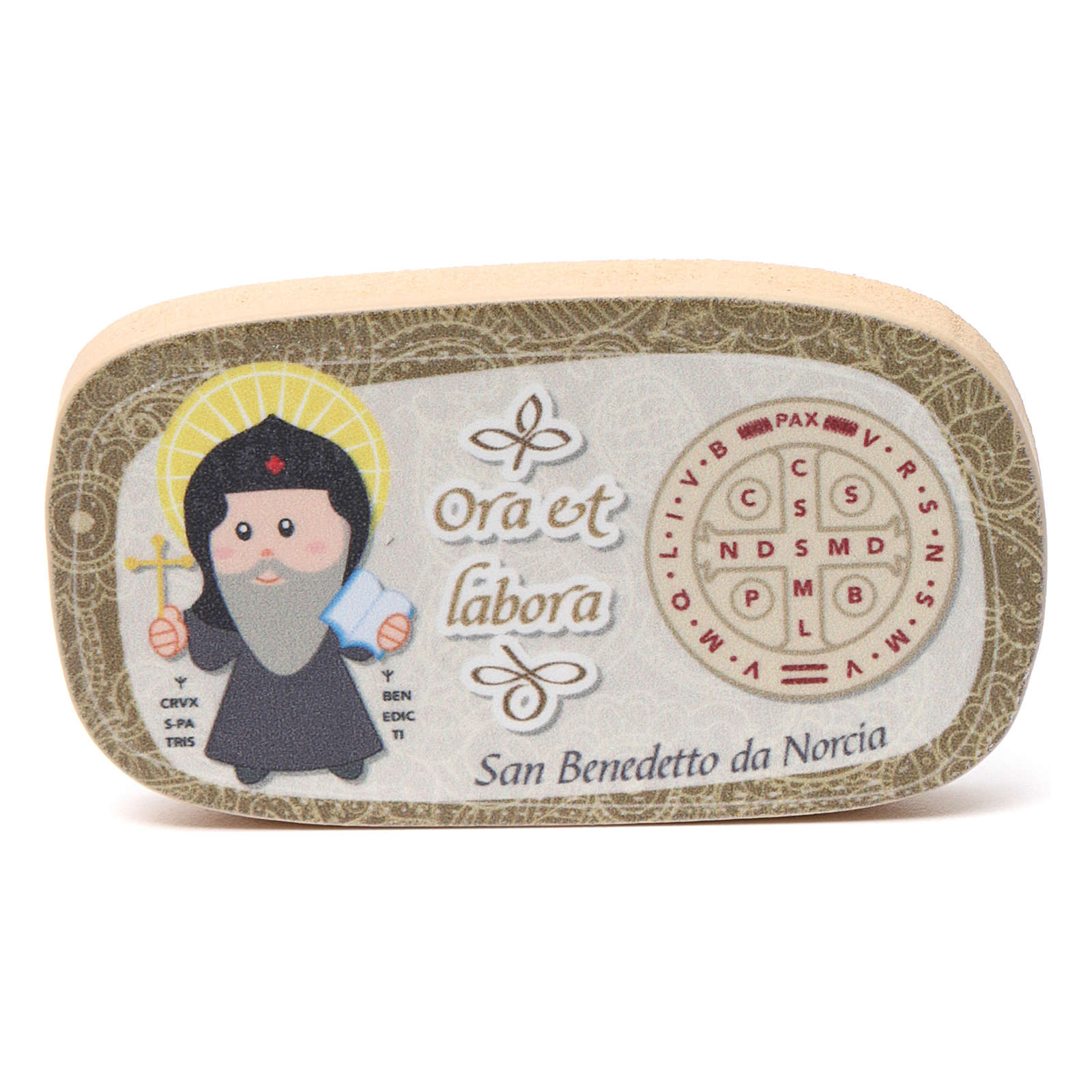 Magnete in legno San Benedetto 3