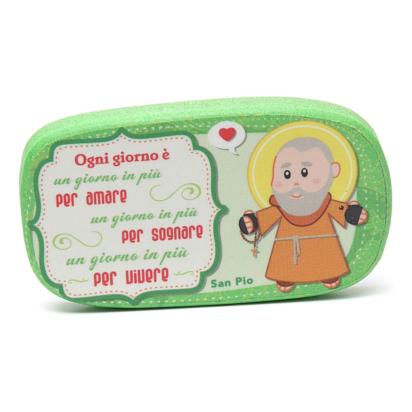 Magnete in legno San Pio da Pietrelcina 3