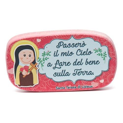 Aimant en bois Ste Thérèse de Lisieux 1
