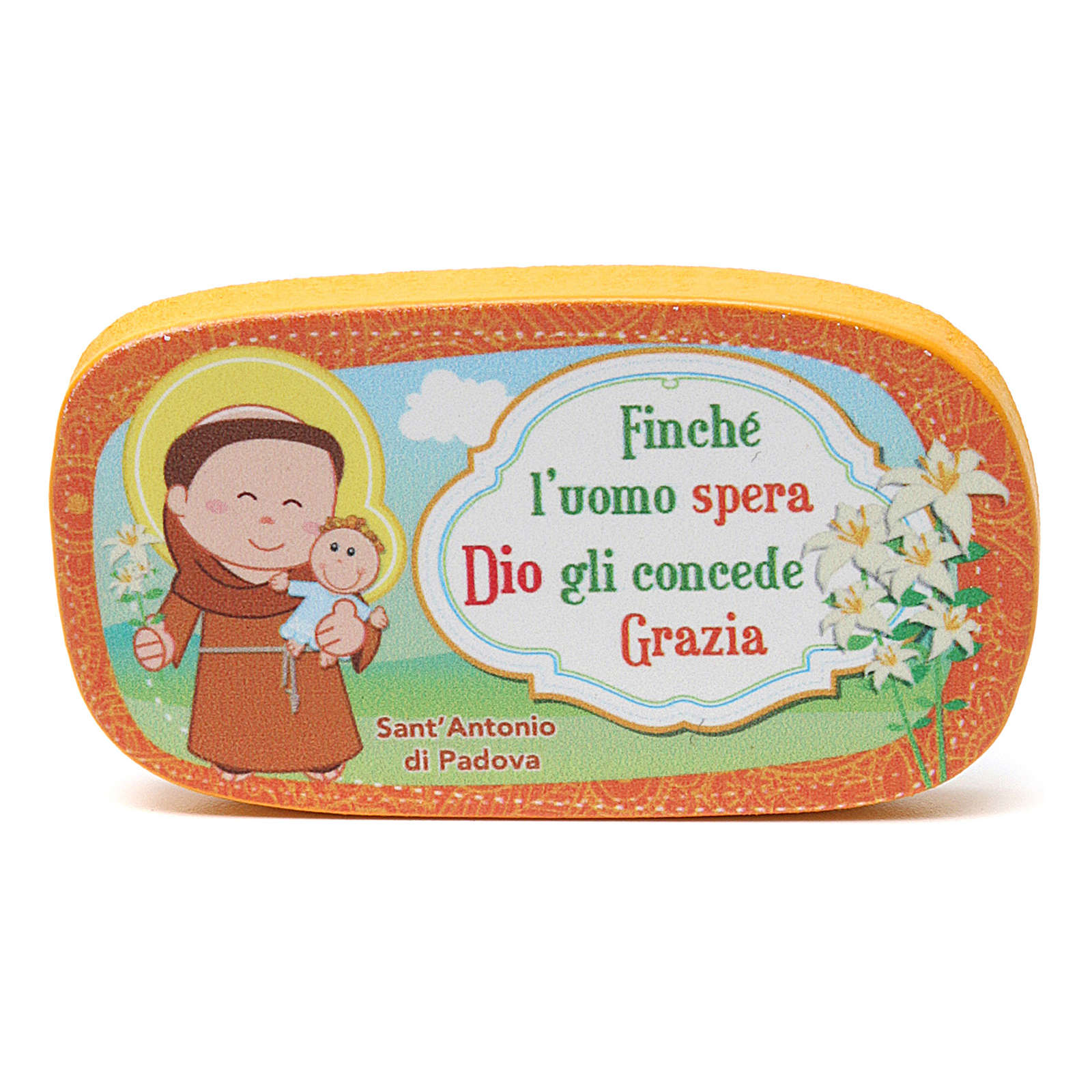 Wooden magnet of St. Anthony of Padua 3