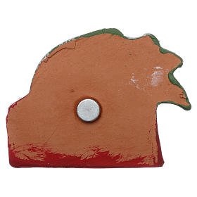 Magnet with palm tree and Nativity Scene in Deruta terracotta s3