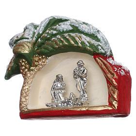 Imán Natividad y palma de terracota Deruta s2
