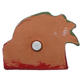 Imán Natividad y palma de terracota Deruta s3