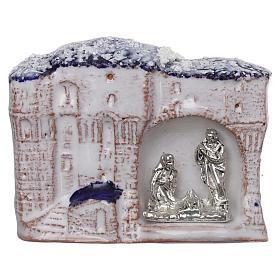 Ímanes de Santos, Nossa Senhora e Papas: Íman casinhas com Natividade em terracota Deruta