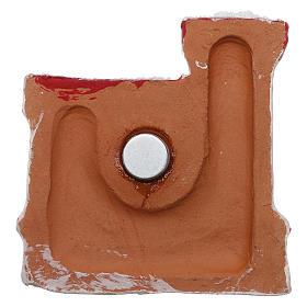 Calamita terracotta Deruta castello rosso e oro Natività s3