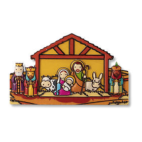 Religious Magnets: Christmas magnet with Come Baby Jesus prayer