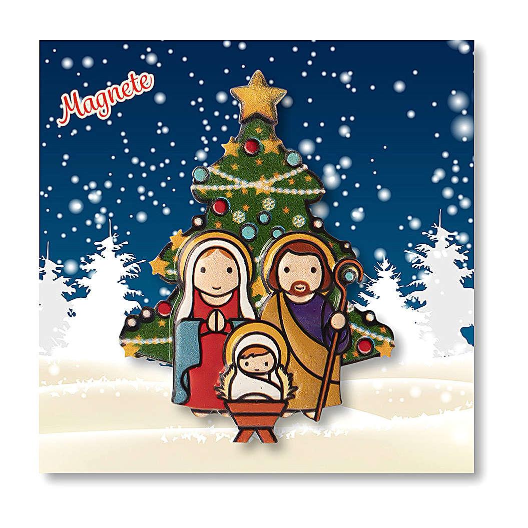 Imán Navideño Belén Árbol oración Navidad cada vez que sonríes 3