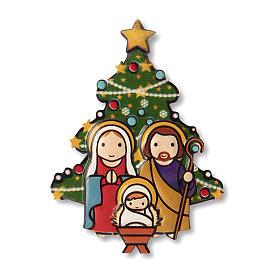 Aimant de Noël Crèche Sapin prière Noël à chaque fois que tu souris ITA s1