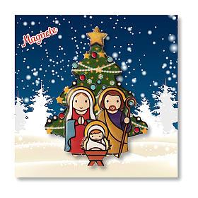 Aimant de Noël Crèche Sapin prière Noël à chaque fois que tu souris ITA s3