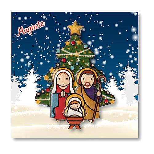 Aimant de Noël Crèche Sapin prière Noël à chaque fois que tu souris ITA 3