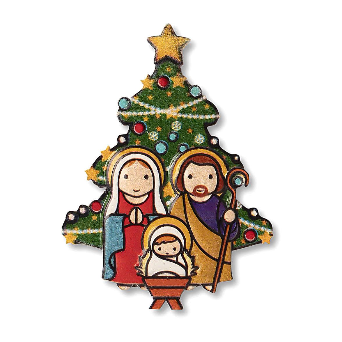Magnete Natalizio Presepe Albero preghiera Natale ogni volta che sorridi 3