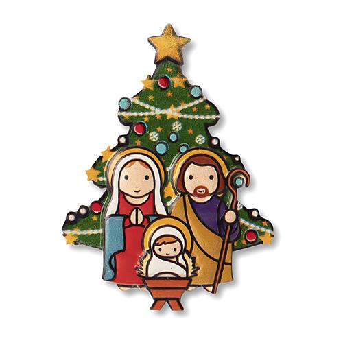 Magnete Natalizio Presepe Albero preghiera Natale ogni volta che sorridi 1