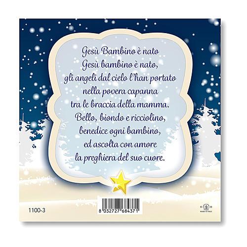 Aimant de Noël Crèche prière L'Enfant Jésus est né ITA 2