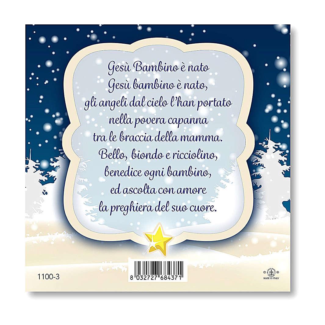 Magnete di Natale Presepe preghiera Gesù Bambino è Nato 3