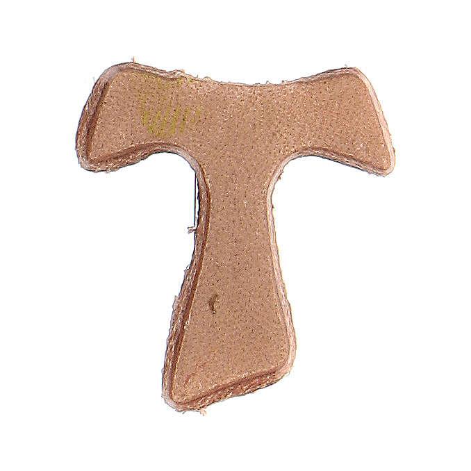 Tau magnet 2.5x2 cm beige leather 3