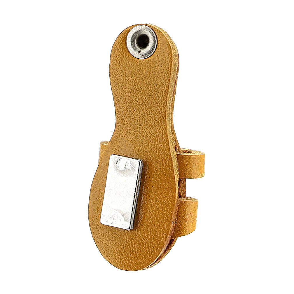 Franciscan sandal magnet real yellow leather 3