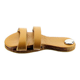 Franciscan sandal magnet real yellow leather s1