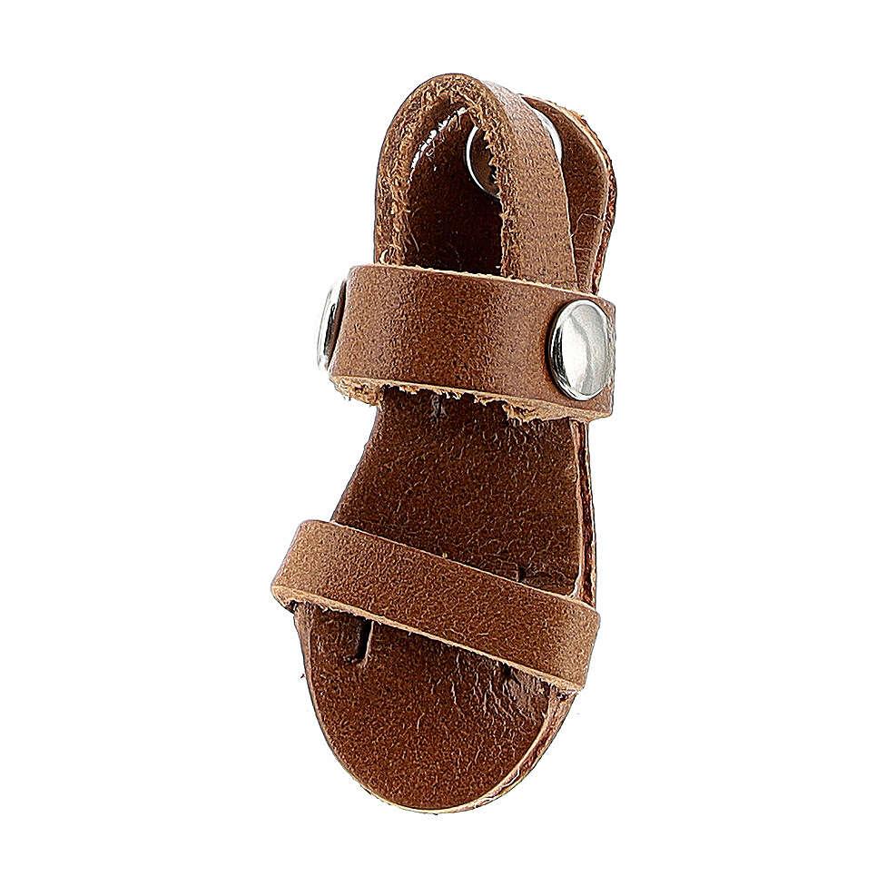 Franciscan sandal magnet real brown leather 3