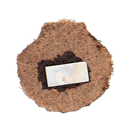 Mini shell magnet of real brown leather 2