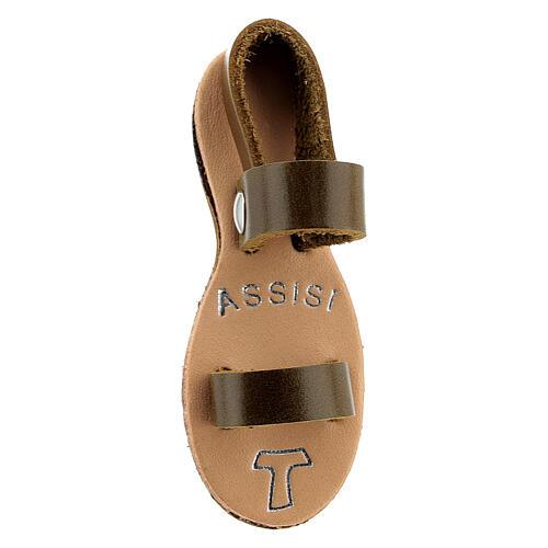 Calamita sandalo francescano Assisi vera pelle 2