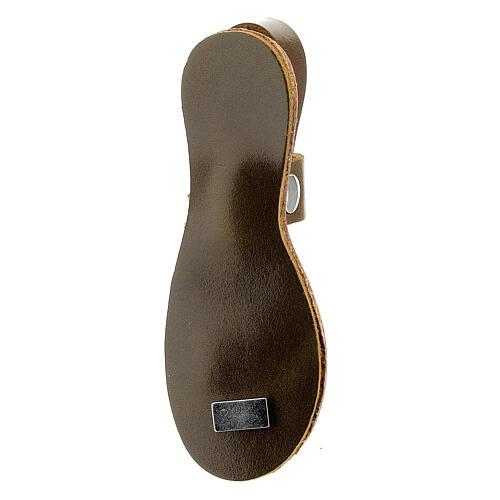 Calamita sandalo francescano Assisi vera pelle 3