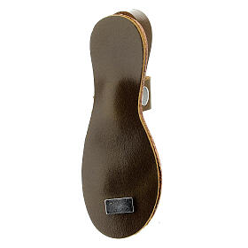 Franciscan sandal magnet Assisi real leather s3