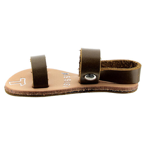 Franciscan sandal magnet Assisi real leather 1
