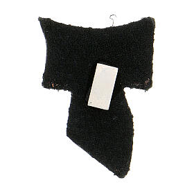 Tau magnet in black leather golden engraving 3 cm s2