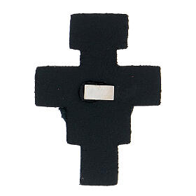 St Francis cross magnet real dark blue leather s2