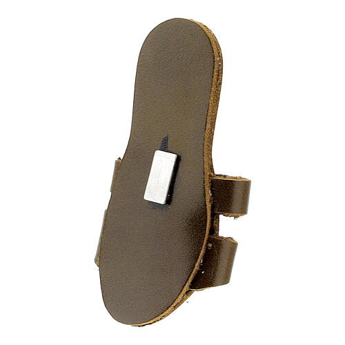 Franciscan slipper magnet with Tau in real leather 3