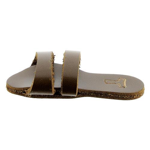 Aimant sandale franciscaine Tau cuir véritable 1