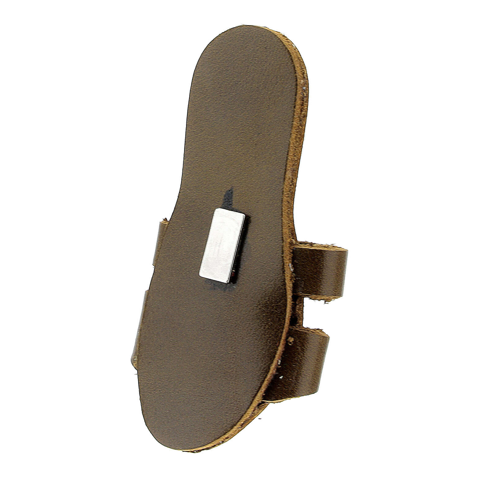Franciscan sandal magnet with Tau real leather 3