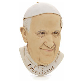 Religious Magnets: Magnet in resin with Pope Francis image