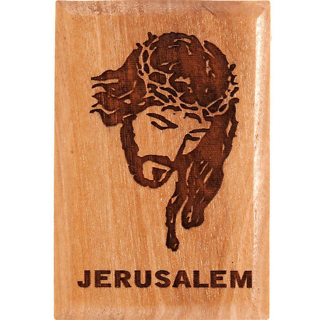 Olive wood magnet- Jesus 3