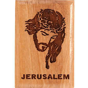 Religious Magnets: Olive wood magnet- Jesus