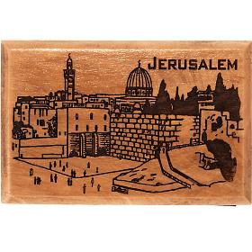 Aimant en bois d'olivier, ville de Jérusalem s1