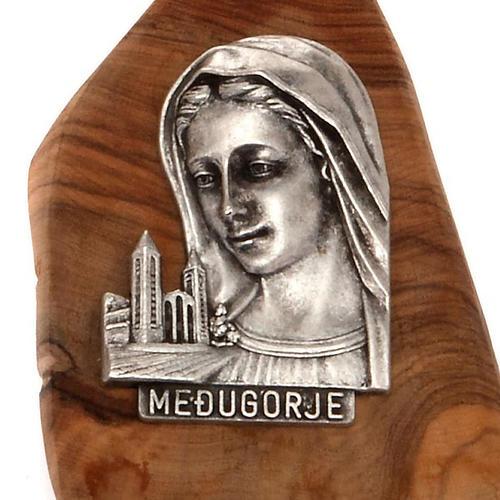 Magnete Medjugorje ulivo placca argentata 2