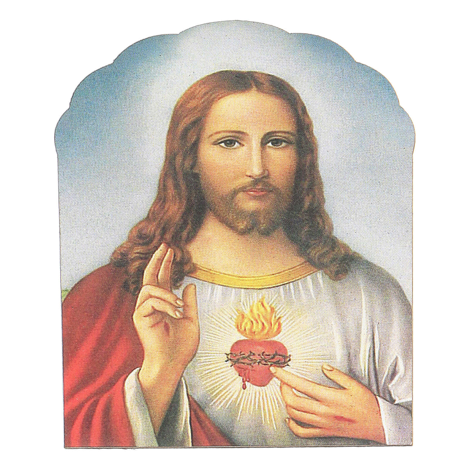 Holy Heart of Jesus magnet in wood 3