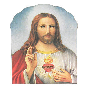 Holy Heart of Jesus magnet in wood s1