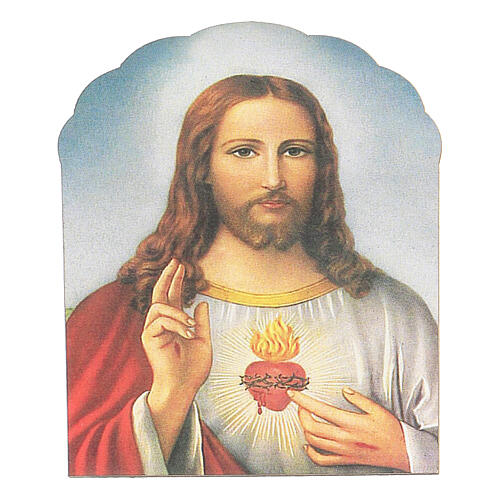 Holy Heart of Jesus magnet in wood 1