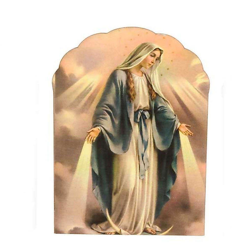 Magnete legno Madonna Miracolosa 3