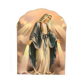 Magnete legno Madonna Miracolosa s1