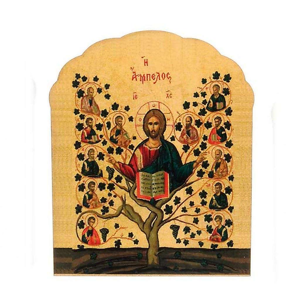 Imán de madera de árbol de la vida 3