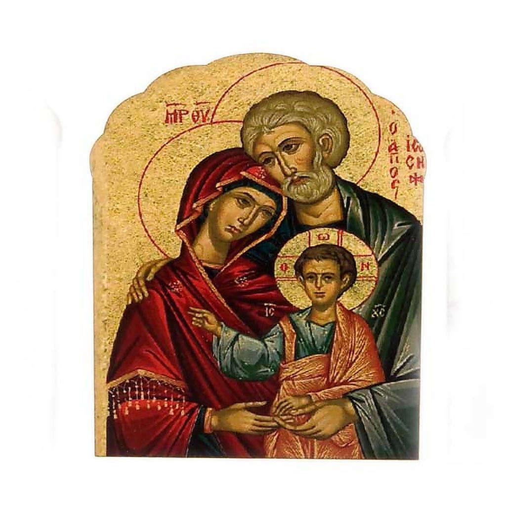 Imán de madera de la Sagrada Familia 3