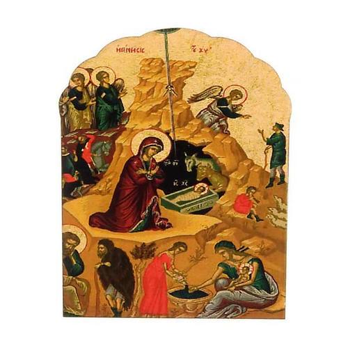 Magnet bois Nativité imprimée 1