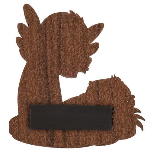 Magnete legno angelo Gesù bambino 2