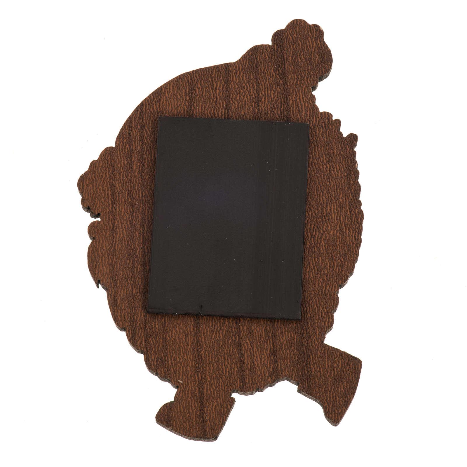 Magnes drewno święty Mikołaj 3