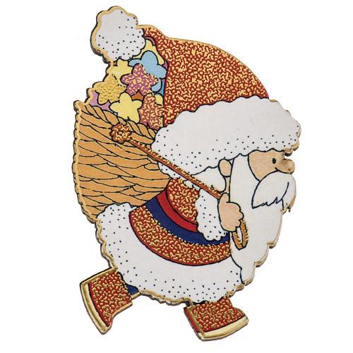 Magnes drewno święty Mikołaj 1