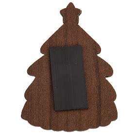 Magnet in wood, pine shaped with Nativity scene s2